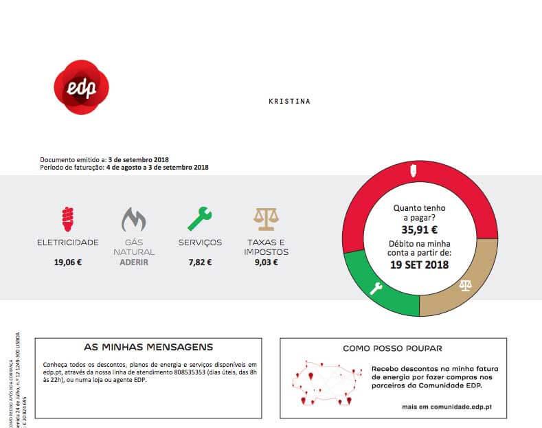 elräkning i Portugal