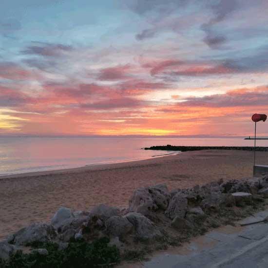 Solnedgången i Quarteira